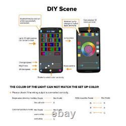 4pcs/Set 96W Offroad Led Work Light Spot Cube Pods RGB Halo Color Change Chasing