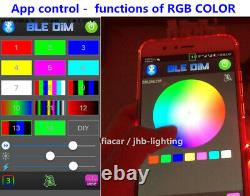 4x 15.5 IP68 Pro RGB Color Changing Blue-tooth App Control LED Wheel Rim Lights