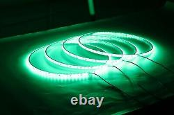 4x 15.5 IP68 RGB Color Changing Lighting Bluetooth LED Wheel Rings Lights Truck
