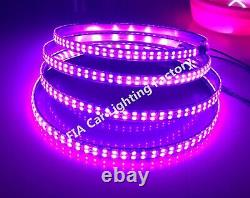 4x15.5 IP68 RGB Color Changing Double Row LED Bluetooth Ctrl Wheel Rings Lights