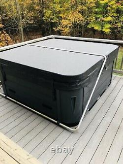 5 Person Outdoor Passion Spa Hot Tub with 50 Jets Waterfall, LED Lighting