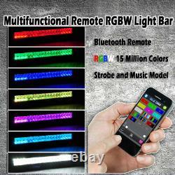 50 INCH Led Light Bar Offroad RGB Multi-Color Change Music Strobe APP Control