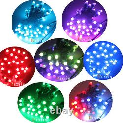 50pcs 500pcs WS2811 RGB Full Color Pixels digital Addressable LED String 12mm 5V