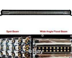 52 Amber White Dual Color Changing Flash Strobe LED Light Bar Harness 12V 24V