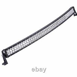 52 in 600W Curved Offroad LED Ligth Bar White/Amber Red Blue/Strobeflash Warning