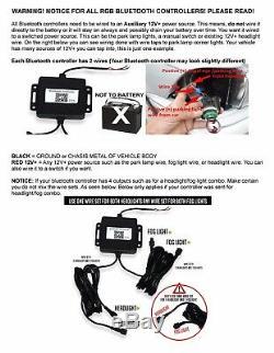 7 Headlight LED RGB Halo Projector Angel DRL for Jeep Wrangler JK TJ LJ 2pcs