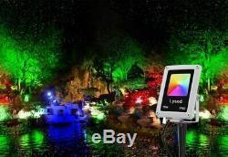 8 Pack Landscape Lighting 10W Low Voltage RGB Color Changing Outdoor Lights IP66