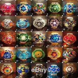 9 Globe Turkish Moroccan Handmade Mosaic Floor Lamp