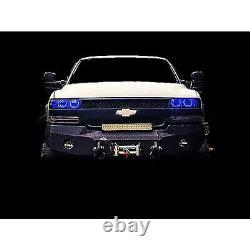 99-02 Chevy Silverado Multi-Color Changing LED RGB Headlight Halo Ring M7 Set