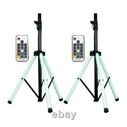 American Audio CSL-100 LED Multi-Colored Light Up Speaker Stands Pair Used