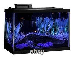 Aquarium Kit Fish Tank Color Change Led Light Filter Heater Plant 20 Gallon Gift