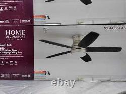 Ashby Park 52'' White Color Changing LED Brushed Nickel Ceiling Fan by HDC