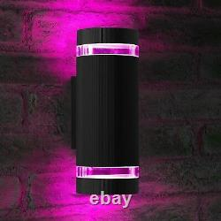 Auraglow Remote Control Colour Changing LED Double Up & Down Outdoor Wall Light