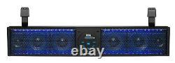 BOSS Audio BRT26RGB ATV UTV Sound Bar, 26 Wide, Fits 1.75 to 2 Bars RGB Light
