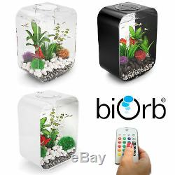 Biorb Life 15 30 MCR LED Colour Change Clear Black White Aquarium Fish Tank