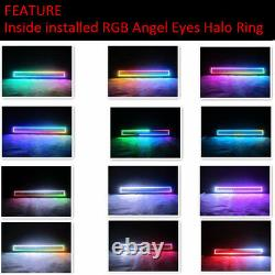 Bluetooth 13.5 inch 72W Offroad Led Light Bar with RGB Halo Ring Chasing 12/14
