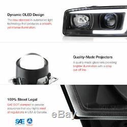 COLOR-CHANGING LOW BEAM 99-06 GMC Sierra Yukon XL LED Neon Tube Headlights SET