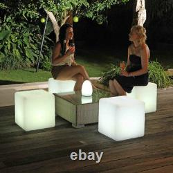 Cocktail 16 LED Cube Chair Color-Changing LED Lighting Decor Stool Night Stand