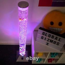 Colour Changing LED Water Bubble Fish Floor Tube Lamp Light Novelty Sensory Mood
