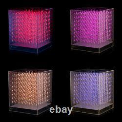 DIY KIT RGB LED Cube 8x8x8 3D Full Color Soldered PCB Board+Case Music Spectrum