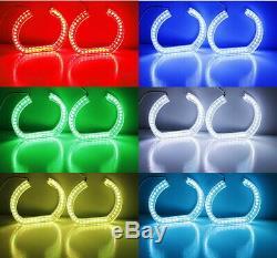 DTM Style Horseshoe RGB LED Angel Eye Rings with Acrylic Covers For BMW Headlights