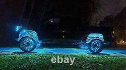 Double Row Color Changing 15.5 RGB LED Wheel Rim Lights Strobe Rings Bluetooth