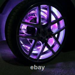 Double Side 15.5Wheel Ring Light Change RGB+Chasing Color Layer LED bluetooth