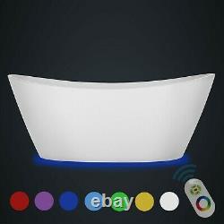 Empava 67 in. Acrylic Freestanding Bathtub 7 Color Changing LED Lights Soak tub