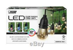 FEIT Electric Decorative Color Changing String Light Set 30 ft