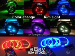 Fiacarlighting 15.5 RGB Color-Shift LED Car Truck Wheel Rings Lights x4PCS SET