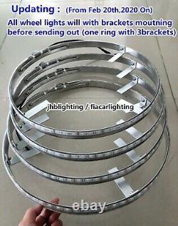 Fiacarlighting 4x 15.5IP68 Pro RGB Color Change Bluetooth LED Wheel Ring Lights