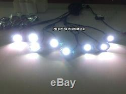 Fiacarlighting 8Pods Set RGB Color Changing LED Bluetooth Rock Lights for trucks