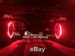 Fiacarlighting IP68 15.5Adjustable RGB Color Changing Bluetooth LED Wheel Light