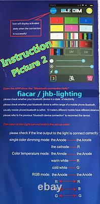 Fialights 15.5 IP68 RGB Multi-color Change Bluetooth LED Wheel Rings Lights Set