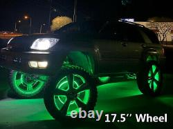 For Truck 4x 17.5'' LED Wheel lights RGB Color Change IP68 Waterproof Bluetooth
