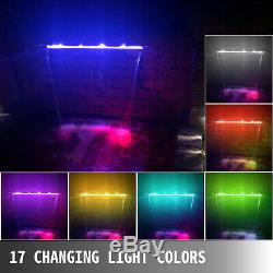 Fountain Spillway Color Changing LED Lighted Spillway23.6AcrylicWaterfall Pool