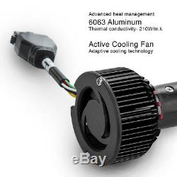 HB4 9006 9012 2in1 Bright 6000K LED Headlight Bulbs + Color Changing Devil Eye
