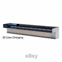 Half Off Ponds Steel Elegance 24 Color Changing LED Lighted Spillway SE24CC