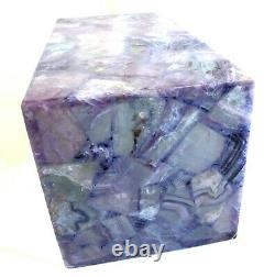 Hard to Find Amethyst Semi Precious Stone Table Lamp 12 H Artisan Hand Crafted