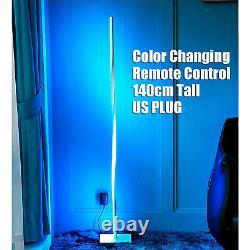 Helix Color Changing LED Corner Floor Lamp Standing Light Bedroom US Plug
