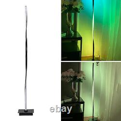 Helix RGB LED Corner Floor Lamp Pole Light Color Changing Lighting US Plug