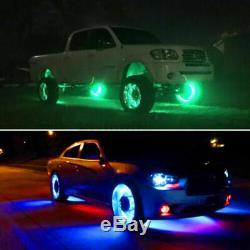 IP68 15.5'' RGB Color Change Illuminated LED Wheel Rings bluetooth x4PCS Lights