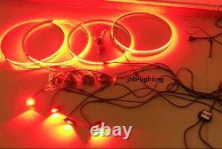 JHB 15.5 RGB Color Change LED Wheel Light + 4pcs RGB Rock Lights works together