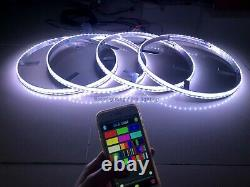 JHB 17.5 x4PCS SET IP68 Color Changing LEDs illuminated LED Wheel Rings Lights