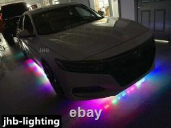 JHB IP68 Double Row LED Color Change Chasing Flow Bluetooth Underglow Strips Kit