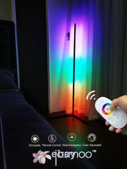 Jasmoo Modern RGB Lamp Minimalist LED Corner Floor Remote Control