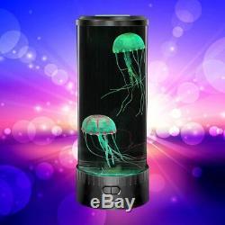 Jellyfish Lamp Shade Lava LED Electric Mood Aquarium Desk Home Bedroom Decor NEW