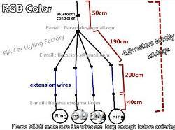 Jhb-lighting 4PCS 15.5RGB Color Changing Bluetooth Control LED Wheel Lights SET