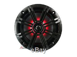 Kicker KM8 8 Marine Coaxial Speakers 4 Ohm Led Multi Color Change