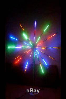 LED Fireworks Light Outdoor Holiday Light 27 Branch 6.5ft 7 Color-Change RBGYOPW